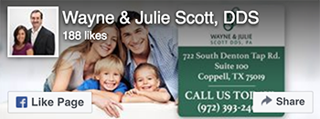 Facebook Like - Wayne and Julie Scott DDS
