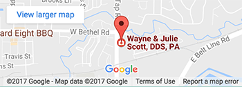 Map - Wayne and Julie Scott DDS